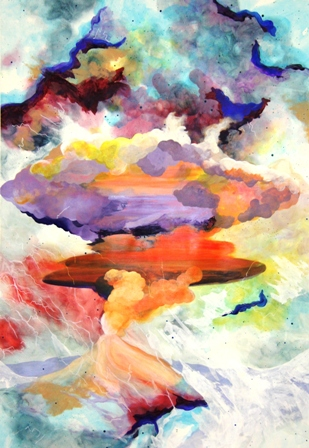 A. Sharman (Continuum) The eruption into the sky, August, 2011