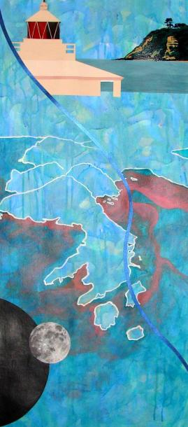 Panthalassa (All Ocean) Anna Sharman 2012 Acrylic on gessoed paper