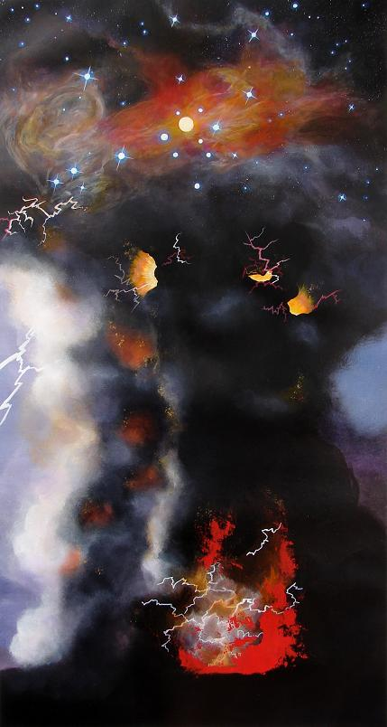 (Small) Anna Sharman 2013 volcano explosion and space